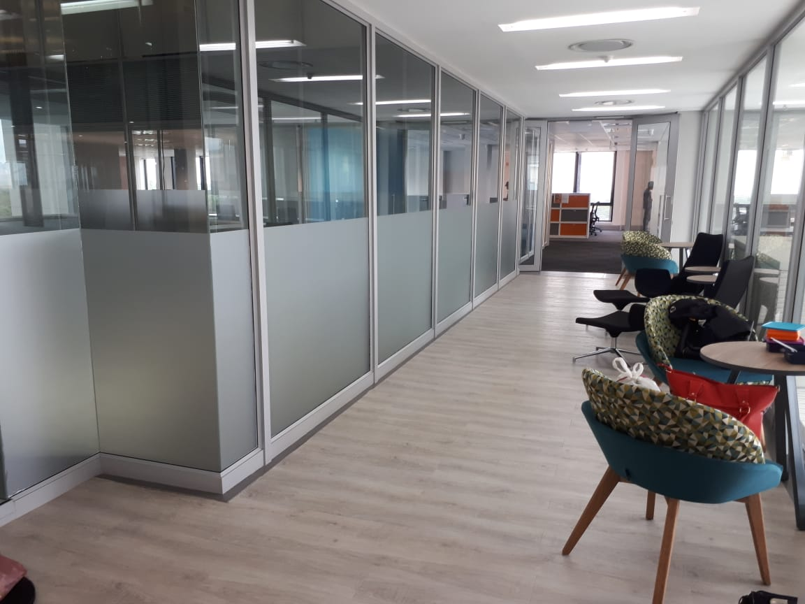 Office vinyl frosted glass
